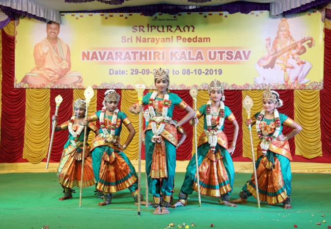 Bharatha Naatyam program by Students of Dance India Dance group from Chennai